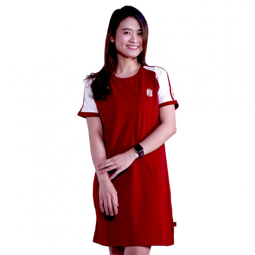 Bali United Two Stripe Reglan Dress Merah