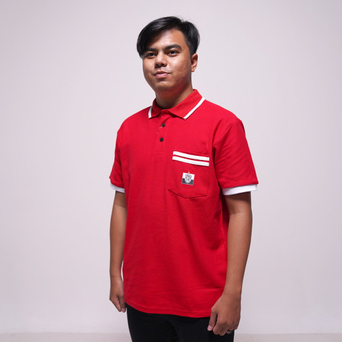 Bali United Baju Polo Short Sleeve Stripe