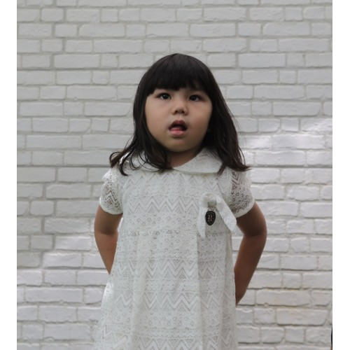 BU Dress Lace With Bow Kids